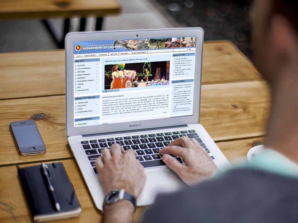 Development of Website for Department of Fisheries