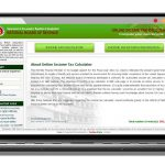 Income Tax Calculator & Return Preparation System : developed by TechnoVista Limited - Screenshot