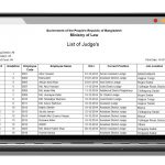 Development of Service Tracking System of Judicial Officials : developed by TechnoVista Limited - Screenshot
